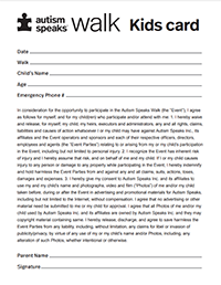 2021 Walk Kids Card