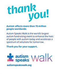 2021 Walk Thank You Card